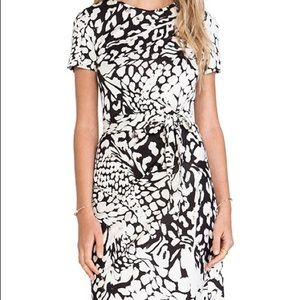 Diane Von Furstenberg Zoe faux wrap silk dress